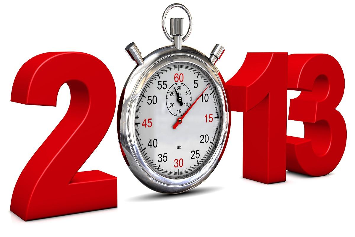 2013 mit Stoppuhr